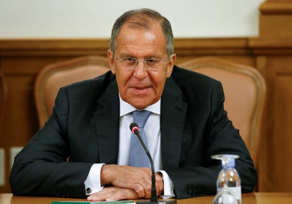 Russian Foreign Minister Sergei Lavrov attends a meeting with his counterpart from Mozambique Jose Pacheco in Moscow, Russia May 28, 2018. REUTERS/Sergei Karpukhin