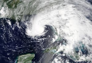 Subtropical Storm Alberto is pictured nearing the Florida Panhandle in this May 27, 2018 NASA handout photo. NASA/Handout via REUTERS