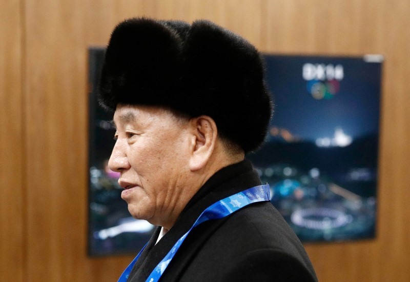 Pyeongchang 2018 Winter Olympics - Closing ceremony - Pyeongchang Olympic Stadium - Pyeongchang, South Korea - February 25, 2018 - Kim Yong Chol, vice chairman of North Korea's ruling Workers' Party Central Committee, arrives at the closing ceremony. REUTERS/Patrick Semansky/Pool