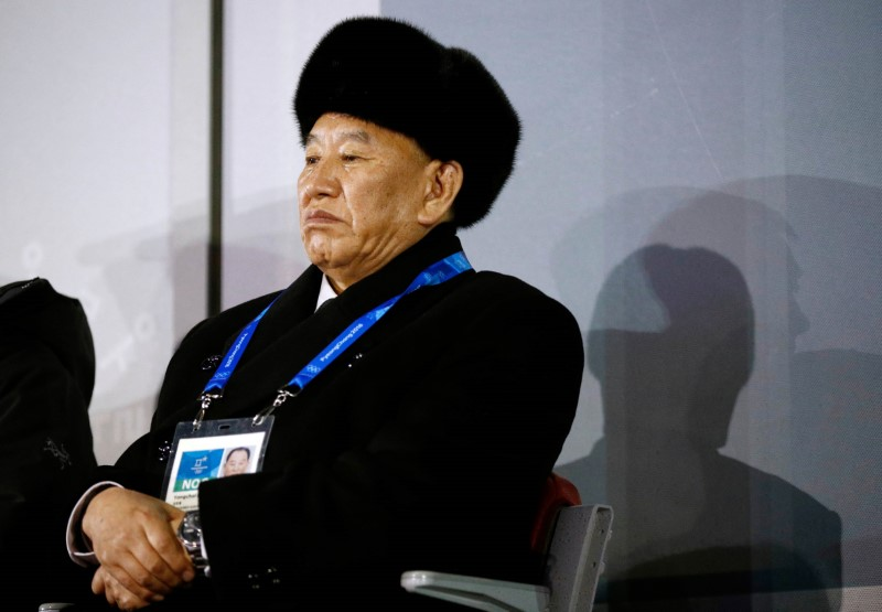 Pyeongchang 2018 Winter Olympics - Closing ceremony - Pyeongchang Olympic Stadium - Pyeongchang, South Korea - February 25, 2018 - Kim Yong Chol, vice chairman of North Korea's ruling Workers' Party Central Committee, watches the closing ceremony. REUTERS/Patrick Semansky/Pool