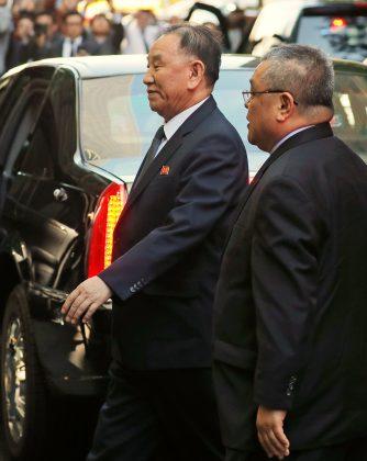 North Korean envoy Kim Yong Chol arrives at a hotel in New York, U.S., May 30, 2018. REUTERS/Lucas Jackson
