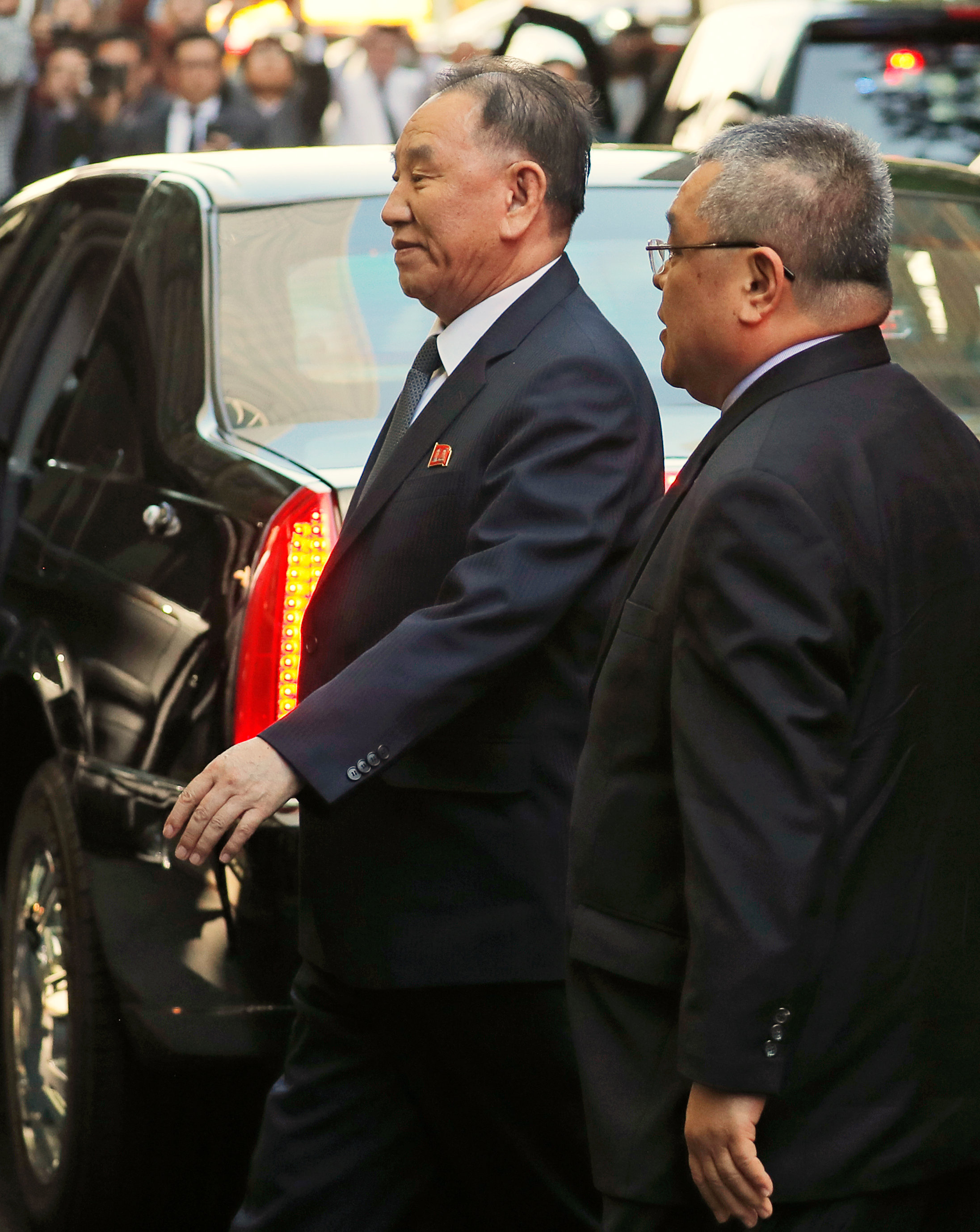 North Korean envoy Kim Yong Chol arrives at a hotel in New York, U.S., May 30, 2018. REUTERS/Lucas Jackson