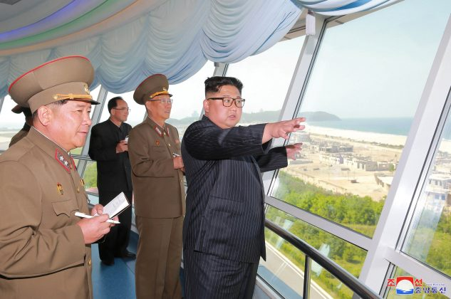 FILE PHOTO North Korean leader Kim Jong Un inspects the construction site of the Wonsan-Kalma coastal tourist area as Kim Su-gil (3rd L), newly appointed director of the General Political Bureau of the Korean People's Army, looks on, in this undated photo released by North Korea's Korean Central News Agency (KCNA) in Pyongyang. KCNA/via REUTERS/Files