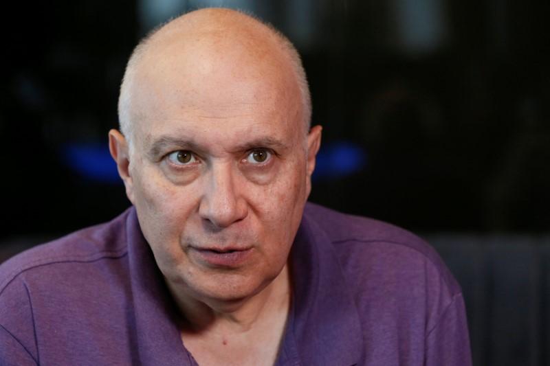 Ukrainian journalist Matvey Ganapolsky speaks during an interview with Reuters in Kiev, Ukraine June 4, 2018. REUTERS/Valentyn Ogirenko