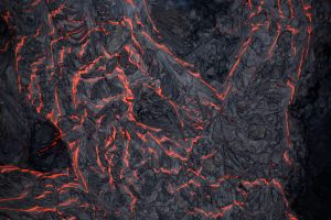 Lava flows on the outskirts of Pahoa during ongoing eruptions of the Kilauea Volcano in Hawaii, U.S., June 5, 2018. REUTERS/Terray Sylvester