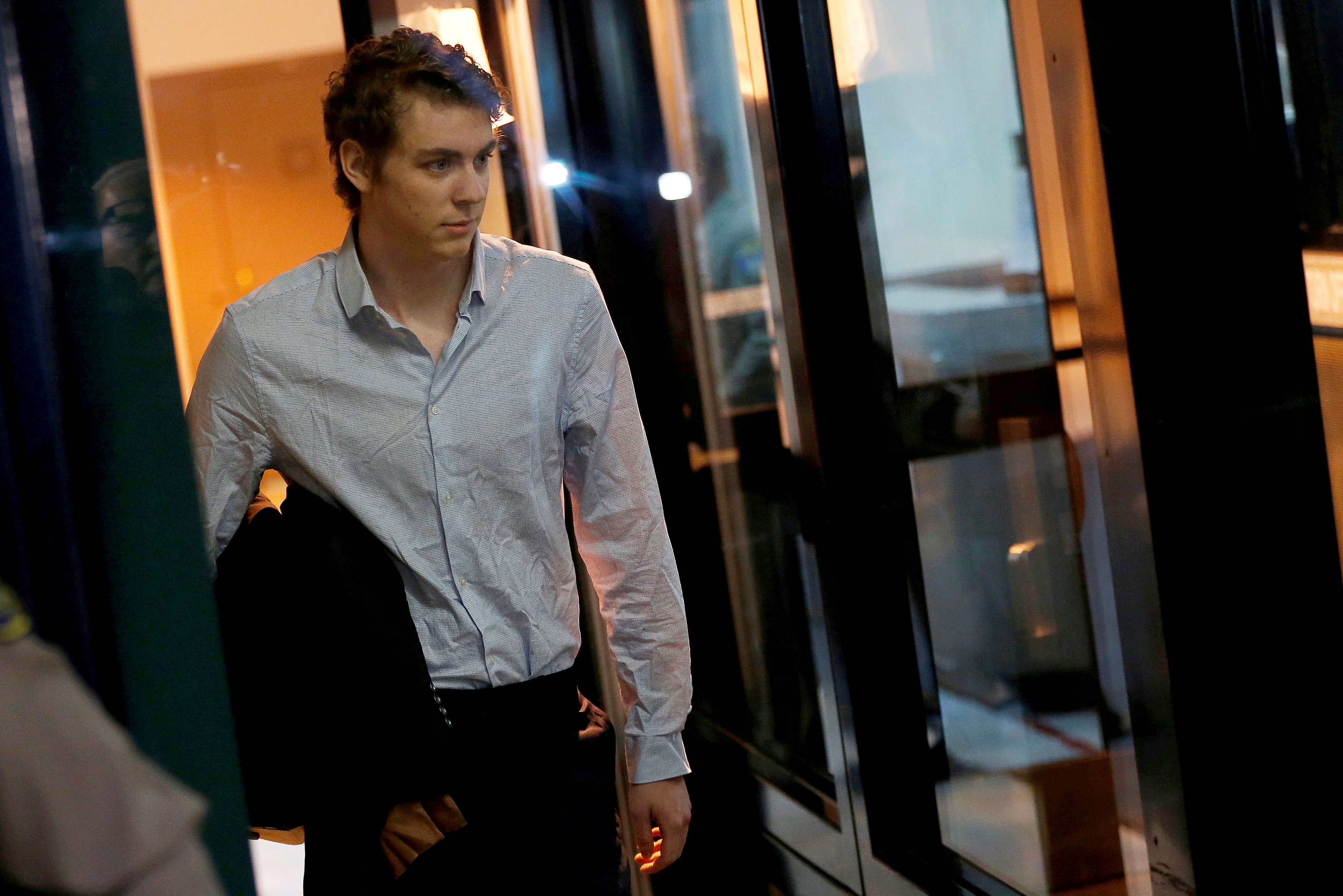 FILE PHOTO: Brock Turner, the former Stanford swimmer convicted of sexually assaulting an unconscious woman, leaves the Santa Clara County Jail in San Jose, California, U.S. September 2, 2016. REUTERS/Stephen Lam/File Photo