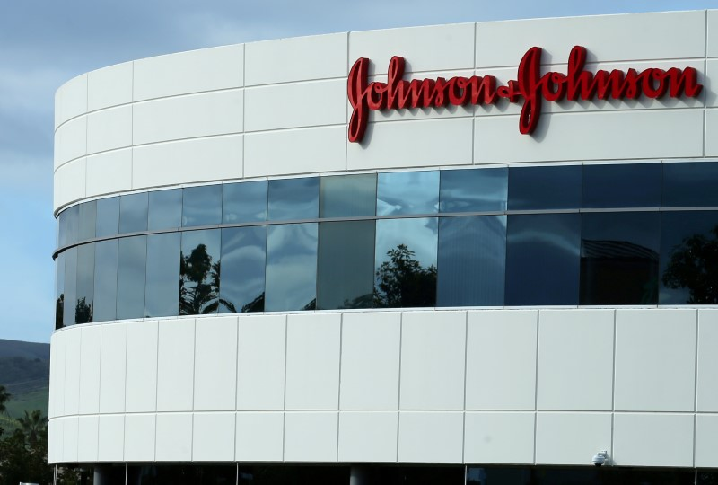 FILE PHOTO: A Johnson & Johnson building is shown in Irvine, California, U.S., January 24, 2017. REUTERS/Mike Blake/File Photo