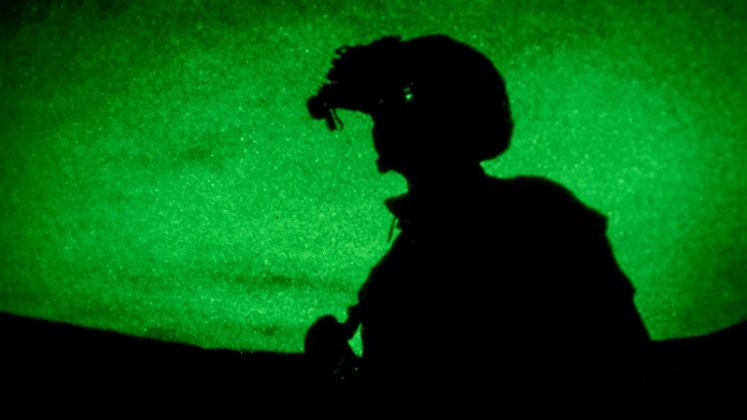 U.S. Marines test night optics during Advanced Naval Technology Exercise 2018 (ANTX-18) at Marine Corps Base Camp Pendleton, California, U.S. March 20, 2018. U.S. Marine Corps/Lance Cpl. Rhita Daniel/Handout via REUTERS