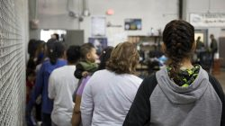 A view of inside U.S. Customs and Border Protection (CBP) detention facility shows detainees inside fenced areas at Rio Grande Valley Centralized Processing Center in Rio Grande City, Texas, U.S., June 17, 2018. Picture taken on June 17, 2018. Courtesy CBP/Handout via REUTERS