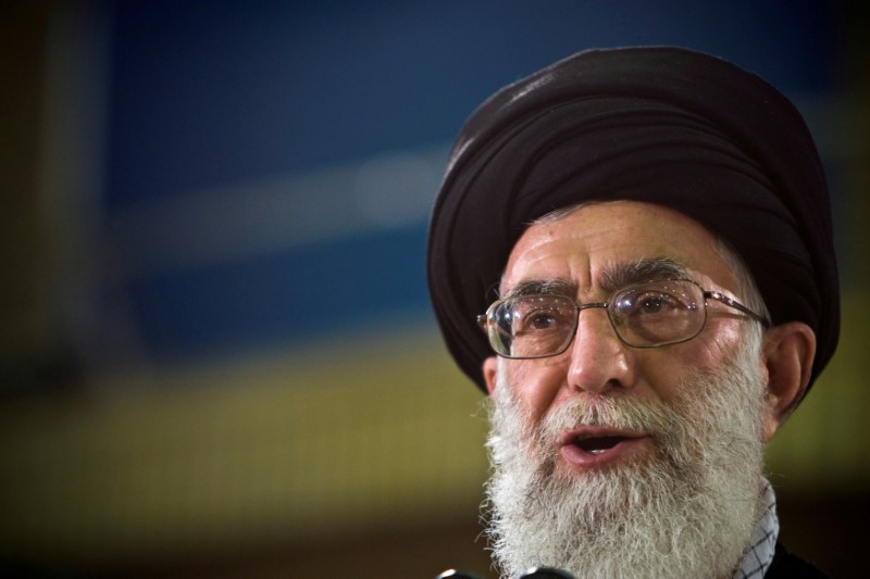 FILE PHOTO: Iran's Supreme Leader Ayatollah Ali Khamenei speaks in Tehran June 12, 2009. REUTERS/Caren Firouz/File Photo