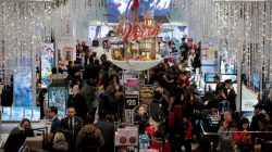 FILE PHOTO: People shop in Macy's Herald Square in Manhattan, New York, U.S., November 23, 2017. REUTERS/Andrew Kelly/File Photo