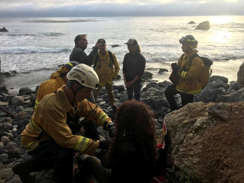 Angela Hernandez is found at the bottom of a cliff in Monterey County, California, July 13, 2018, in picture obtained via social media. Picture taken July 13, 2018. Monterey County Sheriff's Office/via REUTER