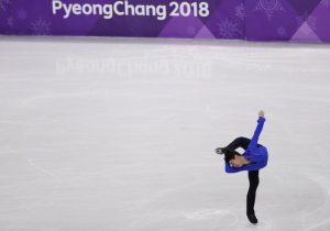 Figure Skating – Pyeongchang 2018 Winter Olympics – Men Single Skating short program competition – Gangneung Ice Arena - Gangneung, South Korea – February 16, 2018 - Denis Ten of Kazakhstan performs. REUTERS/Damir Sagolj - DEVEE2G04HXVK