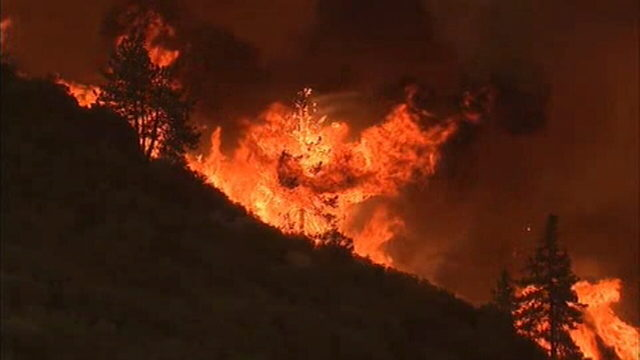Image of Cranston Fire in California, arson suspect has been arrested abc news channel 3 CBS local 2