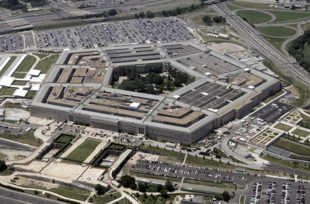FILE PHOTO: An aerial view of the Pentagon building in Washington, June 15, 2005. REUTERS/Jason Reed