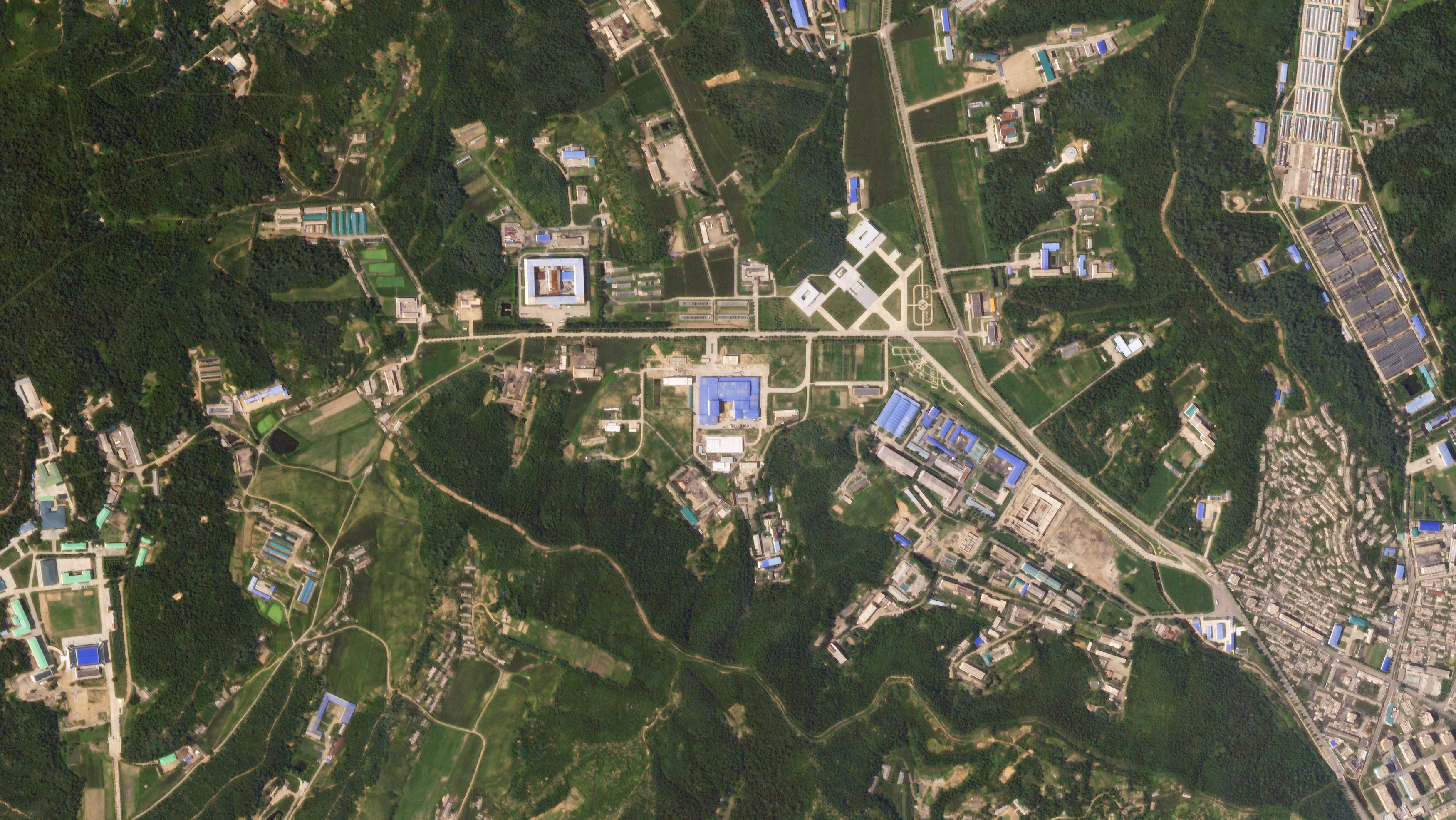 A satellite image shows the Sanumdong missile production site in North Korea on July 29, 2018. Planet Labs Inc/Handout via REUTERS