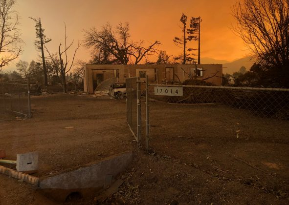 A burned out home in the small community of Keswick is shown from wildfire damage near Redding, California, U.S., July 27, 2018. REUTERS/Alexandria Sage