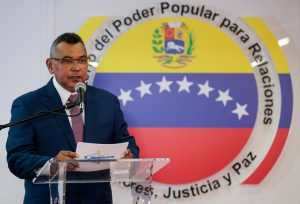 Venezuela's Interior and Justice Minister Nestor Reverol speaks during a news conference in Caracas, Venezuela August 5, 2018. Ministry of Interior and Justice/Handout via REUTERS
