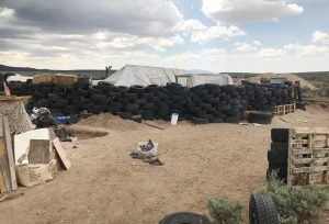 A view of the compound in rural New Mexico where 11 children were taken in protective custody after a raid by authorities near Amalia, New Mexico, August 10, 2018. Photo taken August 10, 2018. REUTERS/Andrew Hay