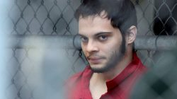 FILE PHOTO: Esteban Santiago is taken from the Broward County main jail as he is transported to the federal courthouse in Fort Lauderdale, Florida, U.S. on January 9, 2017. Courtesy Amy Beth Bennett/South Florida Sun Sentinel via REUTERS