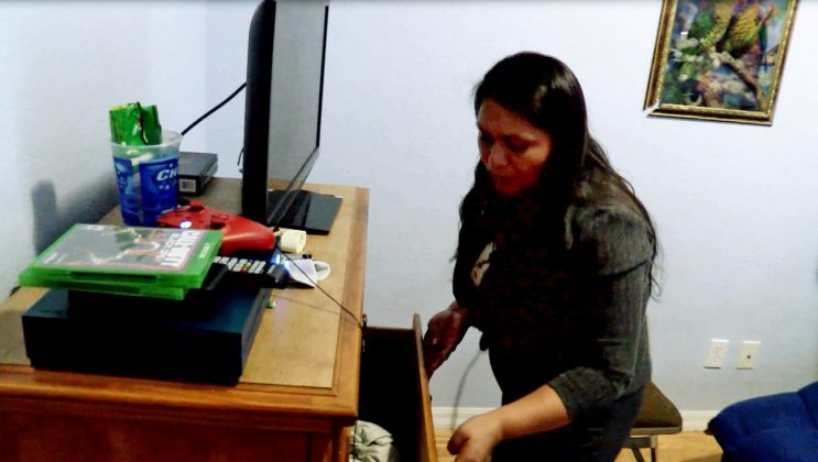 Catarina Miguel, aunt of Yaiser, who was separated from his mother at the U.S. Mexico border and is in detention, is interviewed in the room she has ready for him at her home West Palm Beach, Florida, U.S., in this still image from video, taken August 10, 2018. REUTERS TV/Zach Fagenson