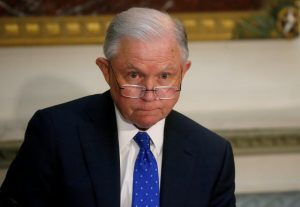 U.S. Attorney General Jeff Sessions takes part in a Federal Commission on School Safety meeting at the White House in Washington, D.C., U.S., August 16, 2018. REUTERS/Leah Millis