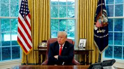 U.S. President Donald Trump reacts to a question during an interview with Reuters in the Oval Office of the White House in Washington, U.S. August 20, 2018. REUTERS/Leah Millis