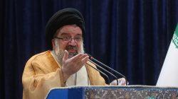 FILE PHOTO - Iranian cleric Ayatollah Seyed Ahmad Khatami delivers a sermon during Friday prayers in Tehran, Iran, May 26, 2017. TIMA via REUTERS