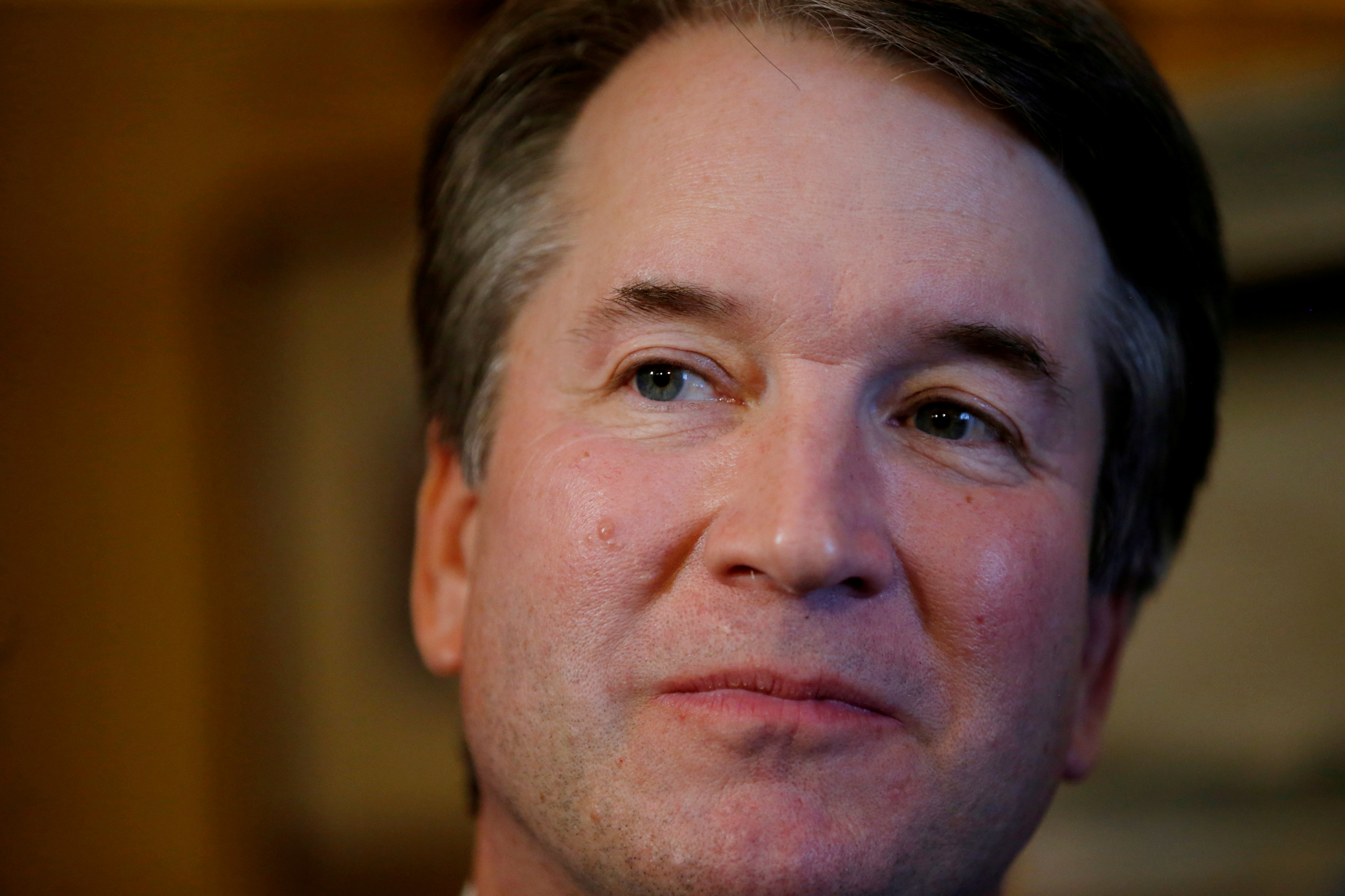 FILE PHOTO: Supreme Court Justice nominee Brett Kavanaugh pictured at his office in the Russell Senate Office Building in Washington, U.S., July 11, 2018. REUTERS/Leah Millis/File Photo