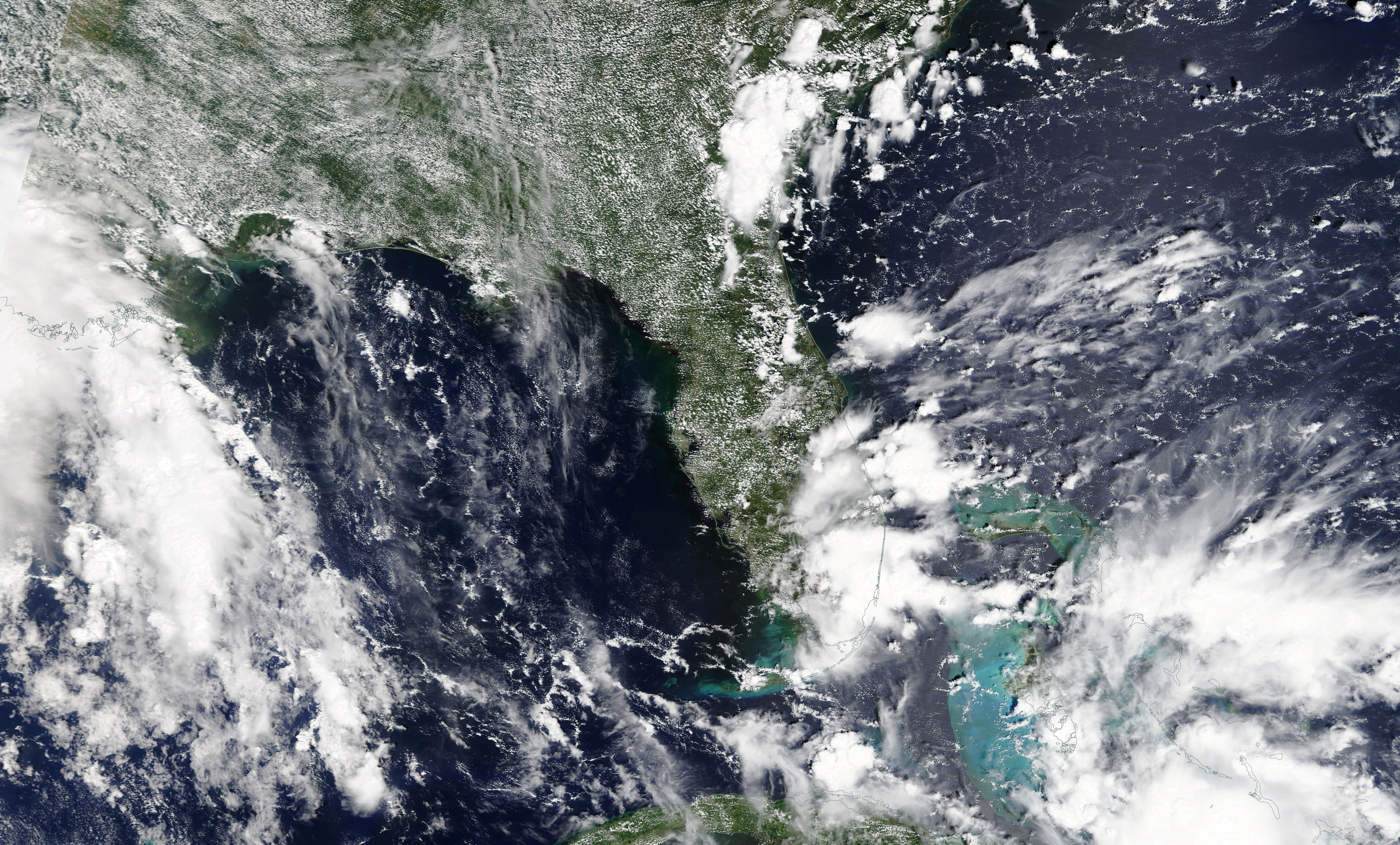 Tropical Storm Gordon is pictured nearing Florida, U.S. in this September 2, 2018 NASA satellite handout photo. NASA/Handout via REUTERS