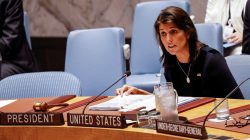 U.S. Ambassador to the United Nations Nikki Haley speaks during a United Nations Security Council meeting about implementation of sanctions against North Korea at U.N. headquarters in New York City, U.S., September 17, 2018. REUTERS/Brendan McDermid