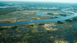Flooding is seen in and around Wilmington, North Carolina, U.S., September 19, 2018 in this picture obtained from social media on September 21, 2018. ALAN CRADICK, CAPE FEAR RIVER WATCH/via REUTERS