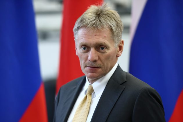 FILE PHOTO: Kremlin spokesman Dmitry Peskov looks on during a visit to the Mazda Sollers Manufacturing Rus joint venture plant of Sollers and Japanese Mazda in Vladivostok, Russia September 10, 2018. Valery Sharifulin/TASS Host Photo Agency/Pool via REUTERS