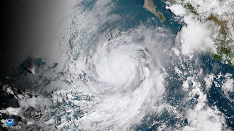 Hurricane Rosa is shown from a National Oceanic and Atmospheric (NOAA) GOES East satelite over the eastern Pacific Ocean on September 27, 2018, in this image provided September 28, 2018. Image taken September 27, 2018. NOAA/Handout via REUTERS