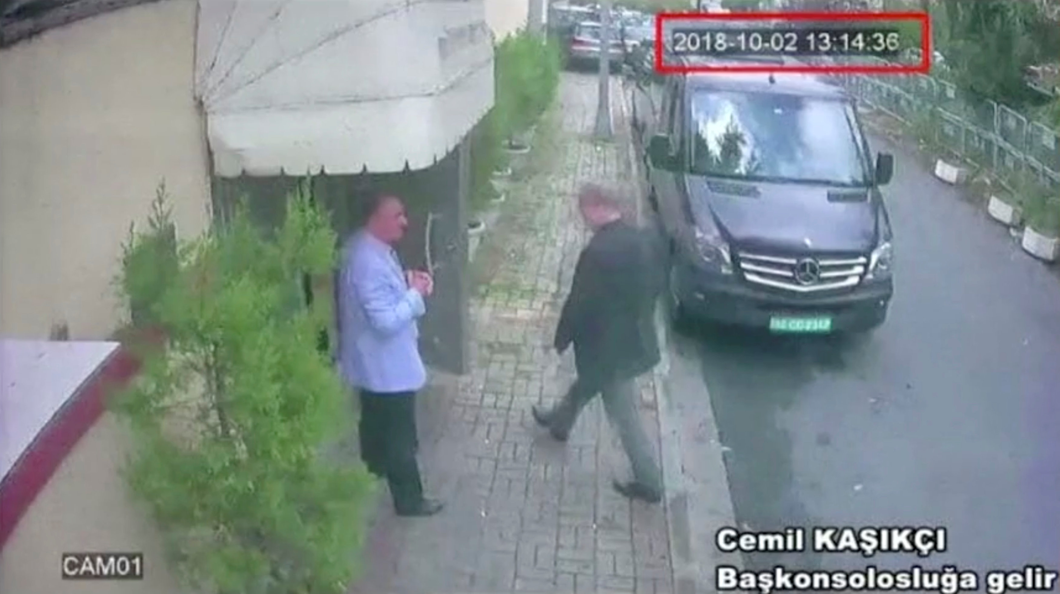 A still image taken from CCTV video and obtained by TRT World claims to show Saudi journalist Jamal Khashoggi as he arrives at Saudi Arabia's consulate in Istanbul, Turkey Oct. 2, 2018. Reuters TV/via REUTERS.
