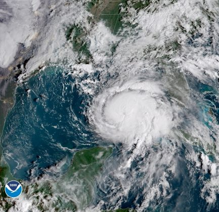 Hurricane Michael is seen in this National Oceanic and Atmospheric Administrations's Geostationary Operational Environmental Satlellite (NOAA GOES-East satellite) image in the Gulf of Mexico, October 9, 2018. Courtesy NOAA GOES-East/Handout via REUTERS