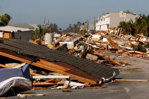 Rubble left in the aftermath of Hurricane Michael is pictured in Mexico Beach, Florida, U.S. October 11, 2018. REUTERS/Jonathan Bachman