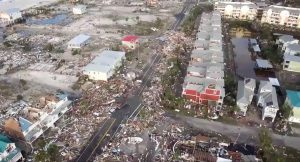 Debris strewn over streets in Mexico Beach, October 11. Duke Energy/via REUTERS