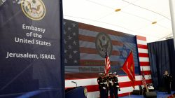 FILE PHOTO: U.S. marines take part in the dedication ceremony of the new U.S. embassy in Jerusalem, May 14, 2018. REUTERS/Ronen Zvulun