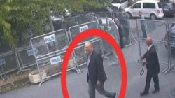 A still image taken from CCTV video and obtained by TRT World claims to show Saudi journalist Jamal Khashoggi, highlighted in a red circle by the source, as he arrives at Saudi Arabia's Consulate in Istanbul, Turkey October 2, 2018. Courtesy TRT World/Handout via Reuters REUTERS