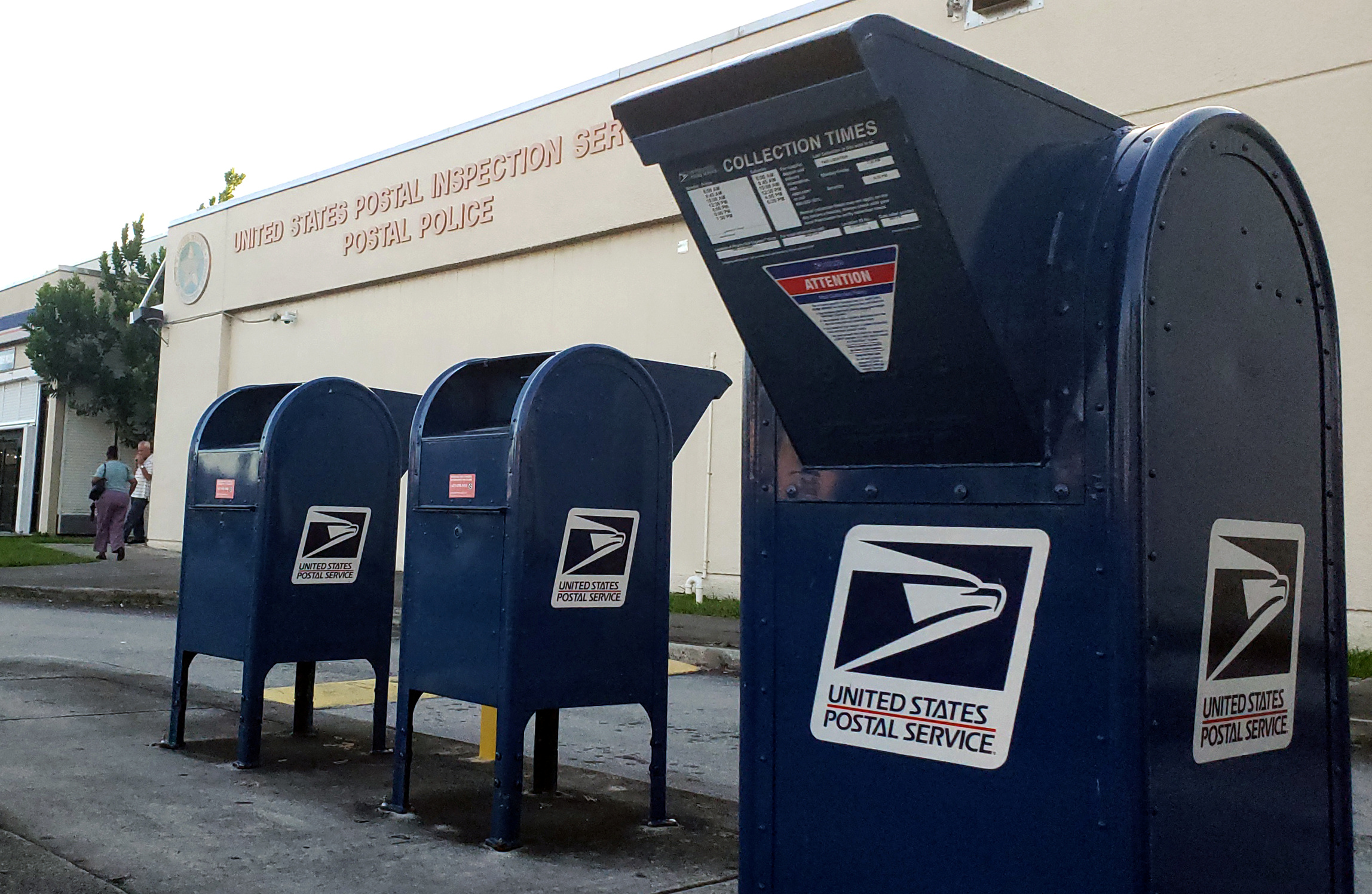 A U.S. Postal Inspection Service facility is pictured near Miami International Airport, in Miami, Florida, U.S., October 25, 2018. REUTERS/Zach Fagenson