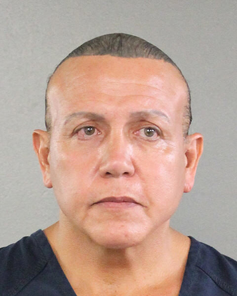 Cesar Altieri Sayoc in an August 2015 booking photo. Broward County Sheriff's Office/via REUTERS