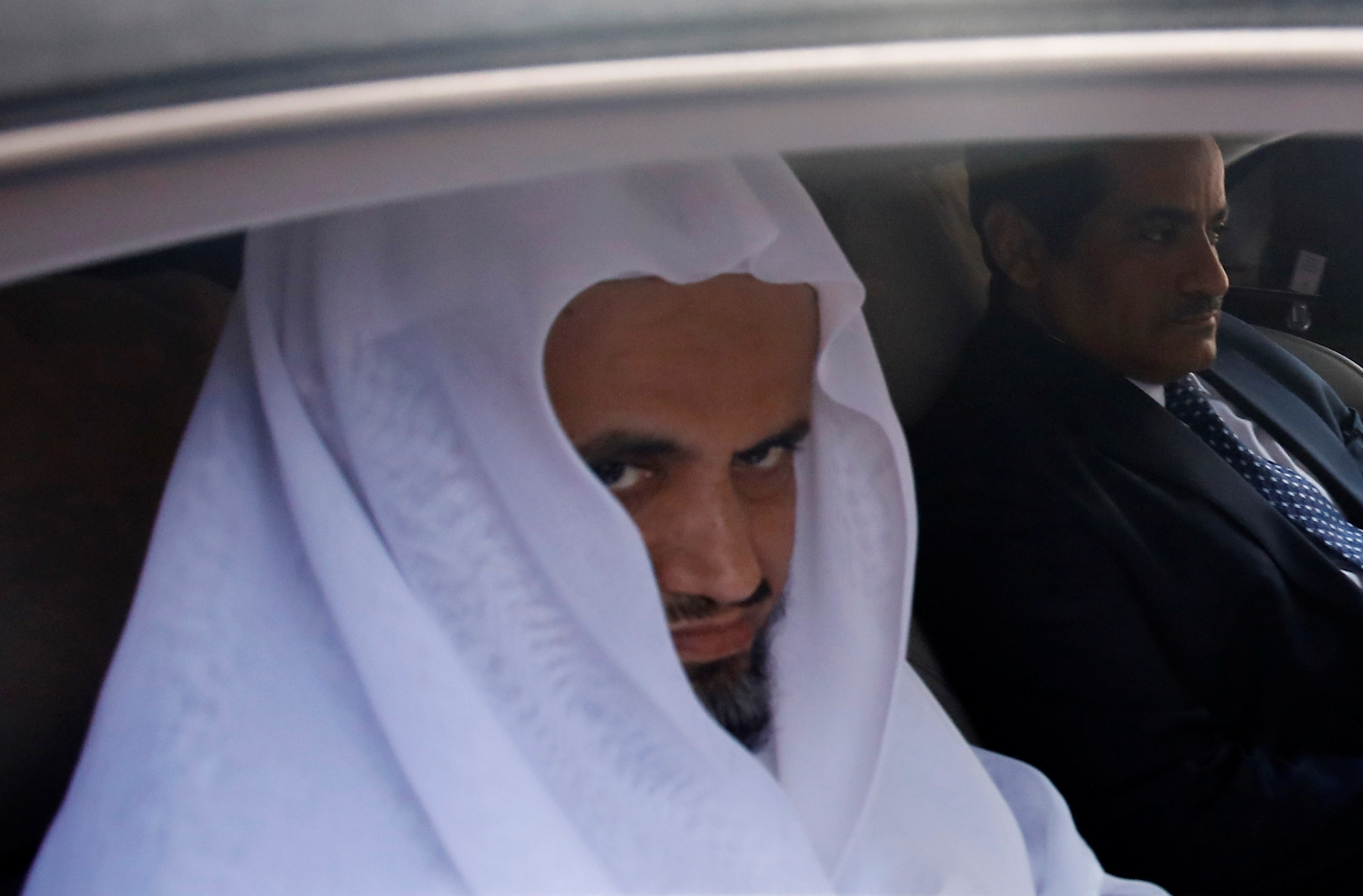 Saudi public prosecutor Saud Al Mojeb leaves from Saudi Arabia's consulate in Istanbul, Turkey October 30, 2018. REUTERS/Kemal Aslan