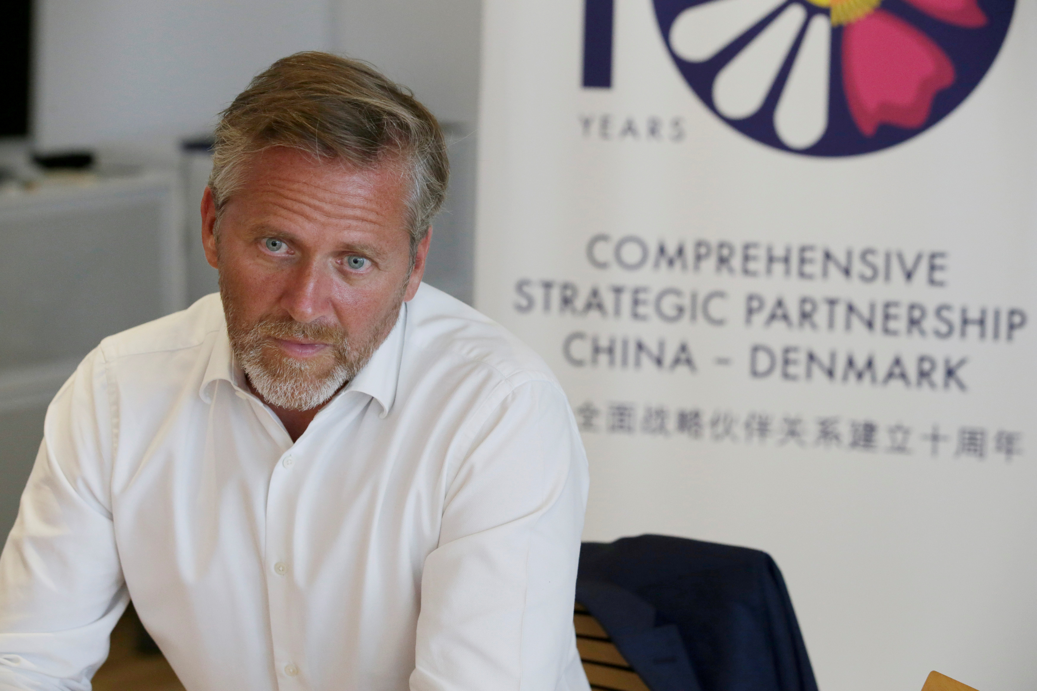 FILE PHOTO: Danish Foreign Minister Anders Samuelsen attends a news conference in Beijing, China June 21, 2018. REUTERS/Jason Lee/File Photo