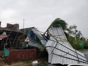 The aftermath of cyclone Gaja is seen in Tamil Nadu, India November 16, 2018 in this picture obtained from social media. SHABBIR AHMED/via REUTERS