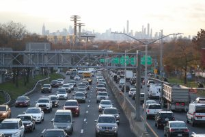 Automobiles drive in heavy traffic along the Long Island Expressway in the Queens borough of New York, U.S., November 20, 2018. REUTERS/Shannon Stapleton