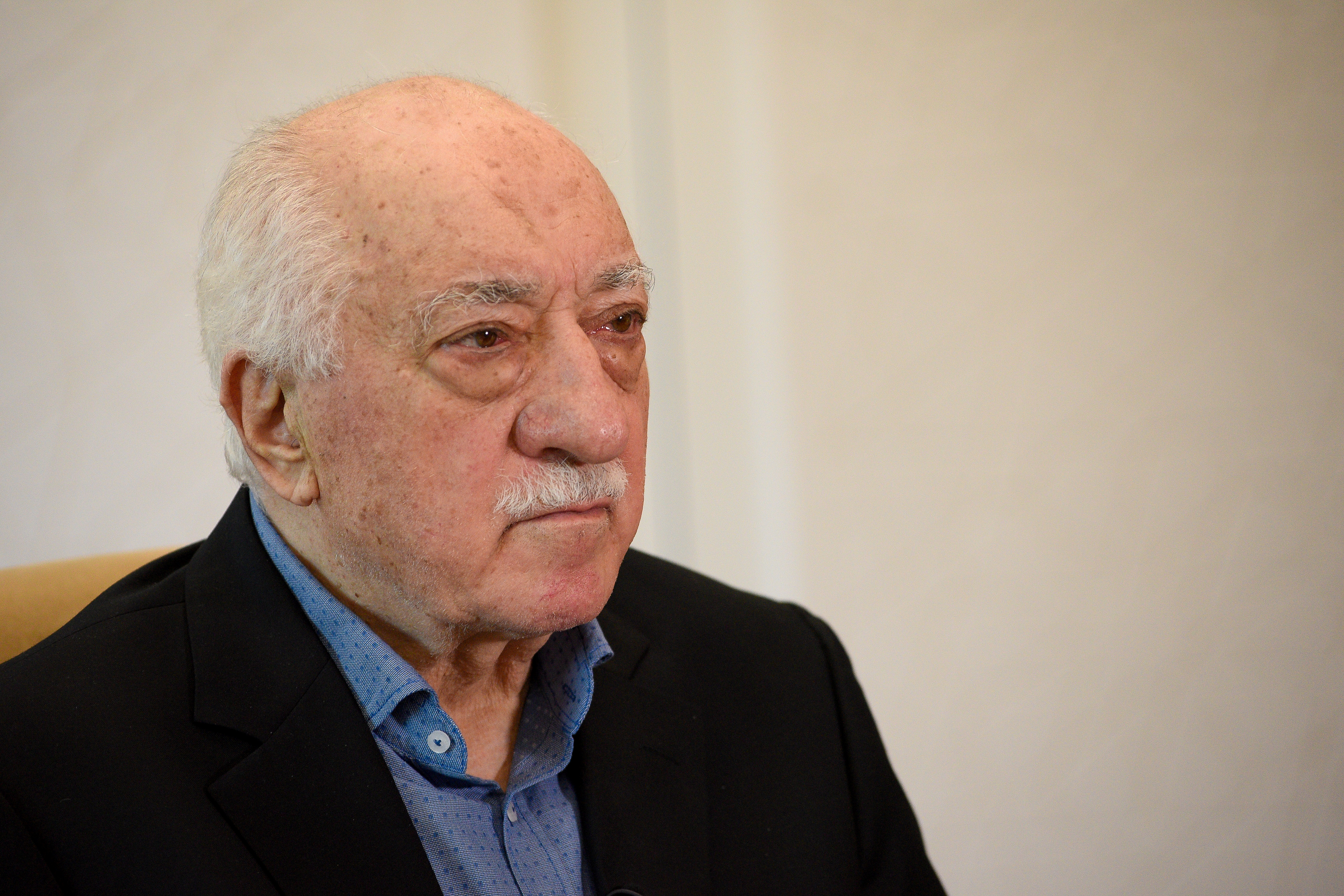 U.S.-based Turkish cleric Fethullah Gulen at his home in Saylorsburg, Pennsylvania, U.S. July 10, 2017. REUTERS/Charles Mostoller