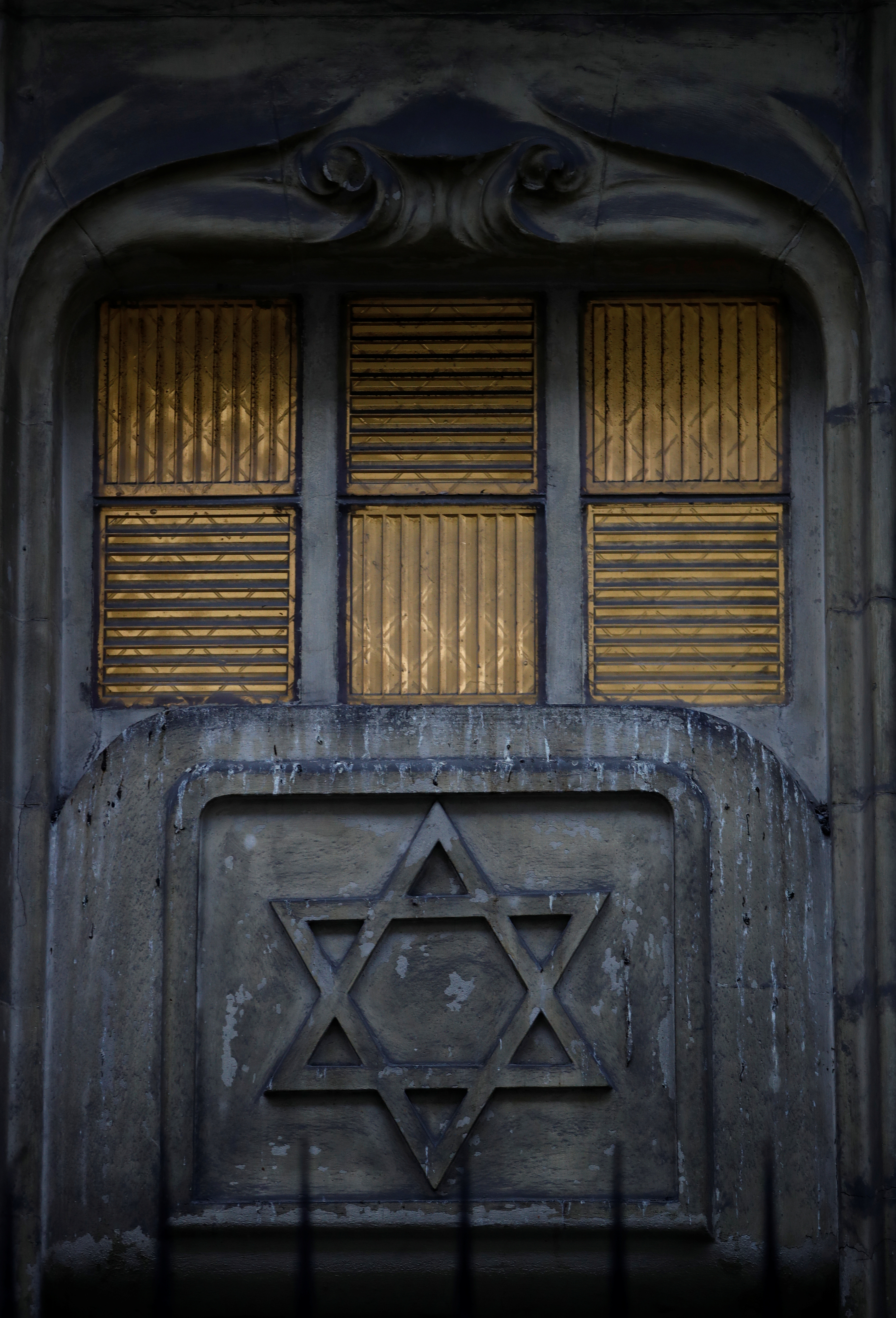 The Star of David is seen on the facade of a synagogue in Paris France, December 10, 2018. REUTERS/Gonzalo Fuentes