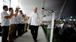FILE PHOTO: Mexico's new President Andres Manuel Lopez Obrador arrives for an event to unveil his plan for oil refining, in Paraiso, Tabasco state, Mexico, December 9, 2018. REUTERS/Alexandre Meneghini