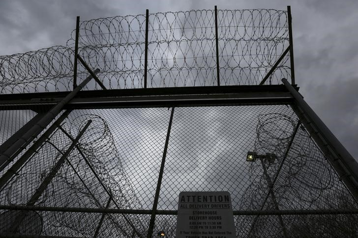 The front gate is pictured at the Taconic Correctional Facility in Bedford Hills, New York April 8, 2016. REUTERS/Carlo Allegri/ File Photo